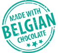 Made with belgian chocolate