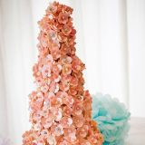 Chocolate button wedding cake unwrapped