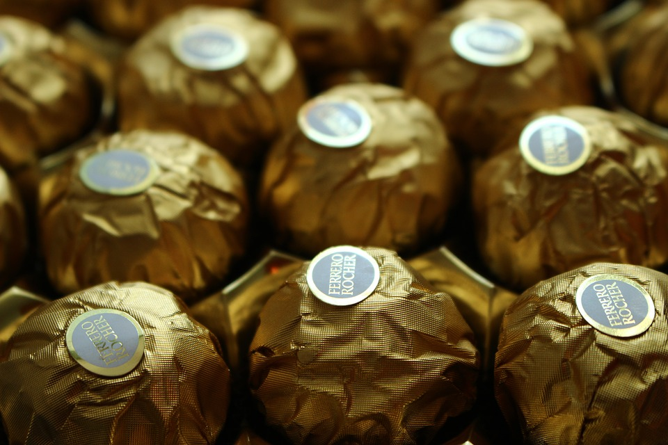 Wrapped Ferrero Rochers