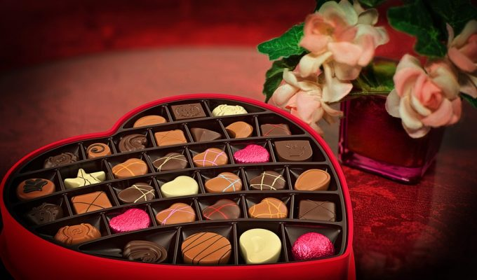 Chocolate box for Valentine's Day