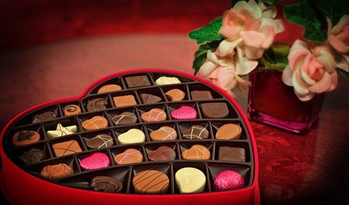 Chocolate box for Valentine's Day