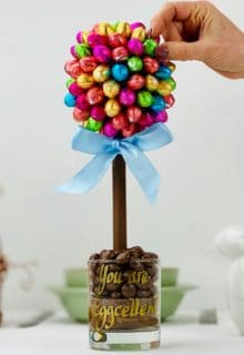 Easter egg chocolate tree
