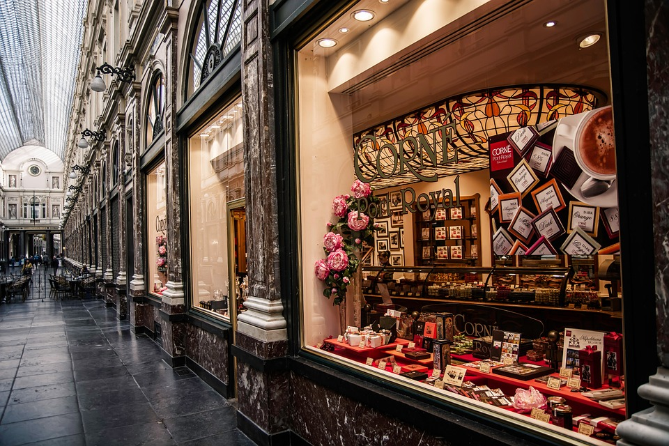Chocolate shop in Belgium