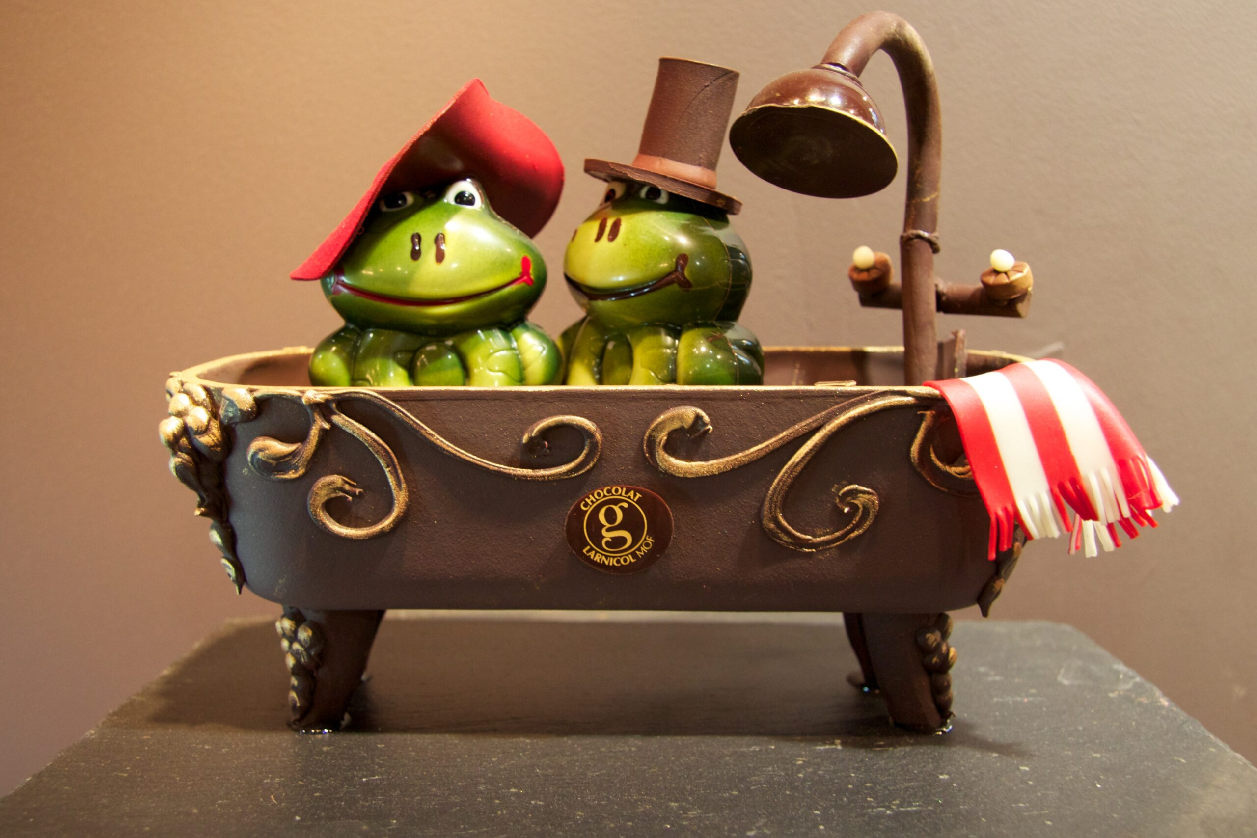 Creative chocolate sculptures