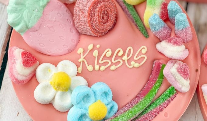 pink letterbox chocolate hug personlised gift