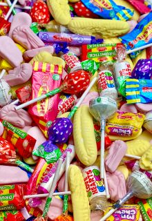 Retro bag of pick 'n' mix sweets