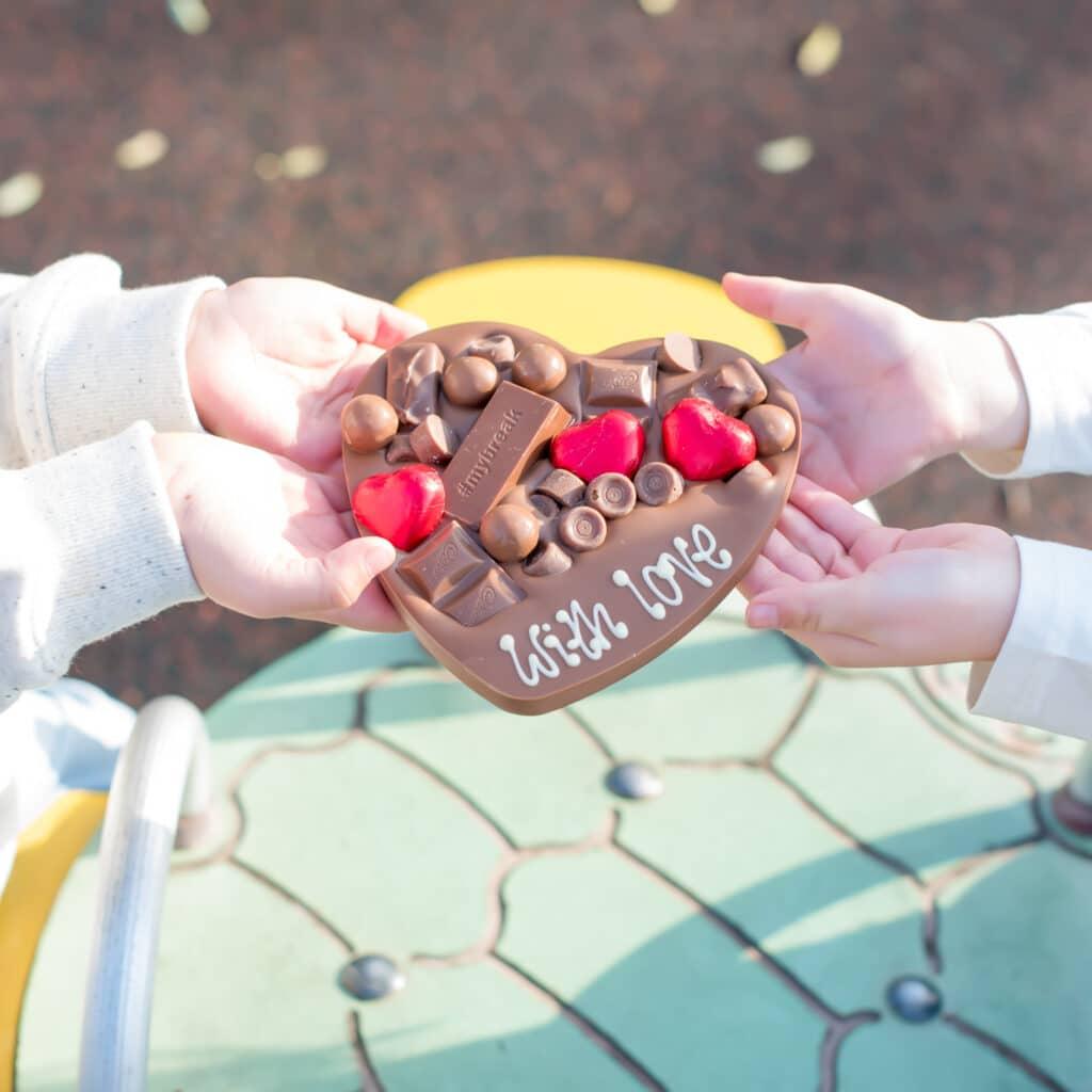 letterbox love hug chocolate gift