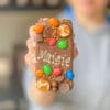 a personalised message on an lgbtq+ pride-edition reese's loaded choco bloc