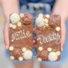 two personalised nutella loaded choco blocs