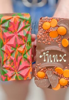 the front and back view of a terry's loaded choco bloc